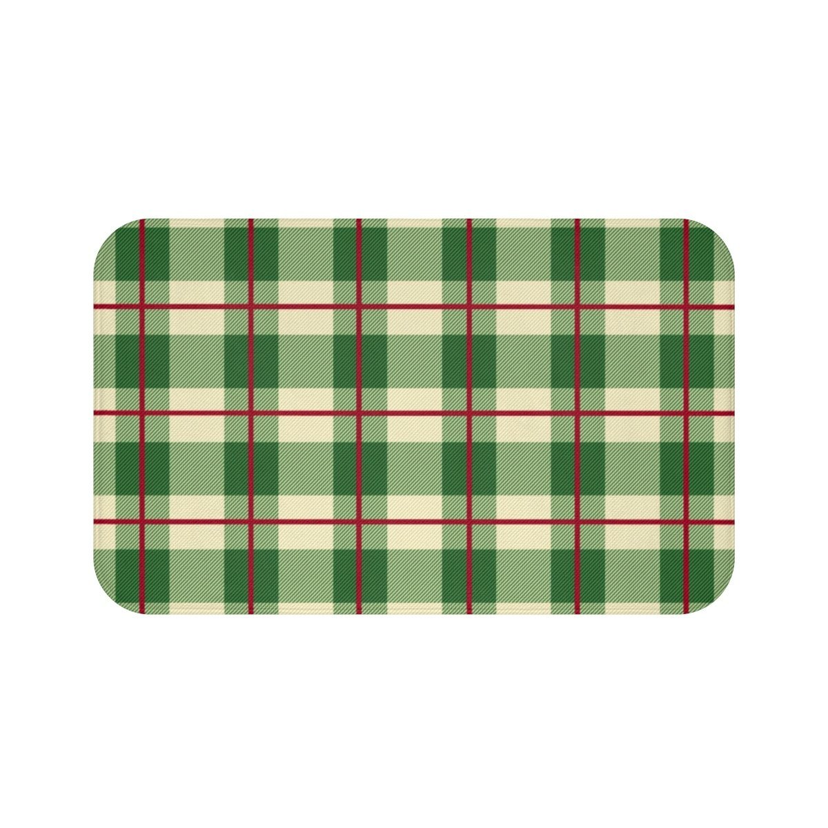 Seasonal & Holiday Christmas Plaid Bath Mat-Bath - Bath Linens - Bath Mats-Maison d'Elite-Très Elite
