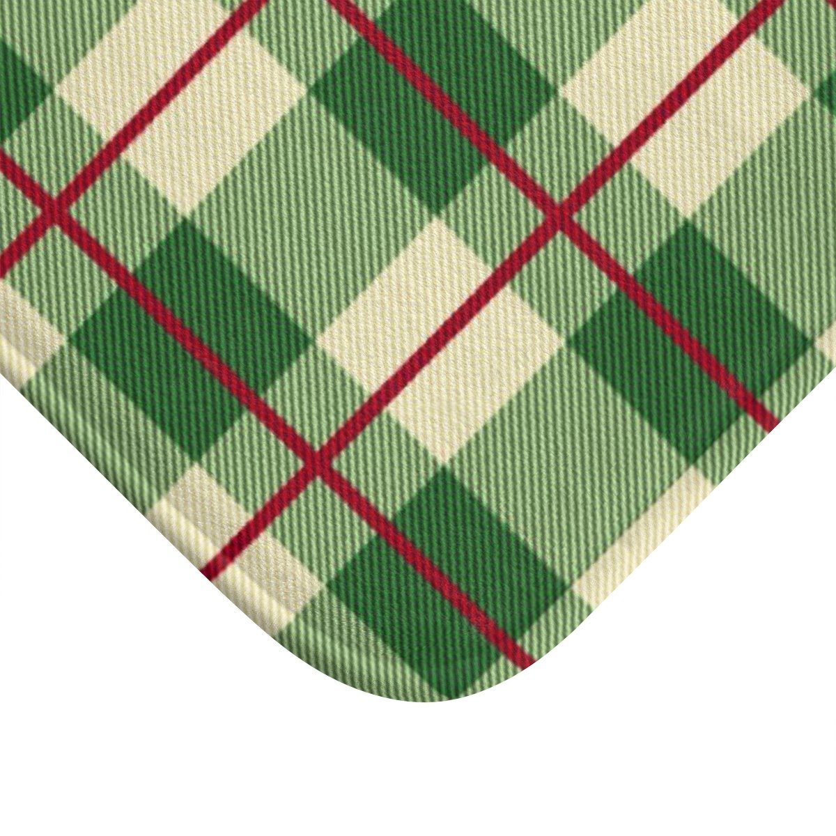 Seasonal & Holiday Christmas Plaid Bath Mat-Bath - Bath Linens - Bath Mats-Maison d'Elite-Large 34x21-Très Elite