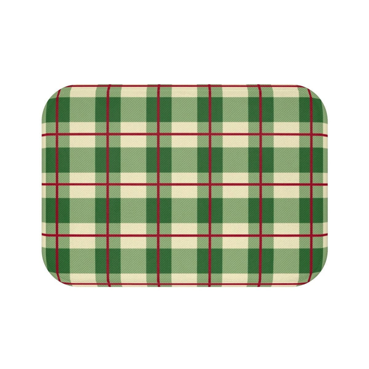 Seasonal & Holiday Christmas Plaid Bath Mat-Bath - Bath Linens - Bath Mats-Maison d'Elite-Small 24x17-Très Elite