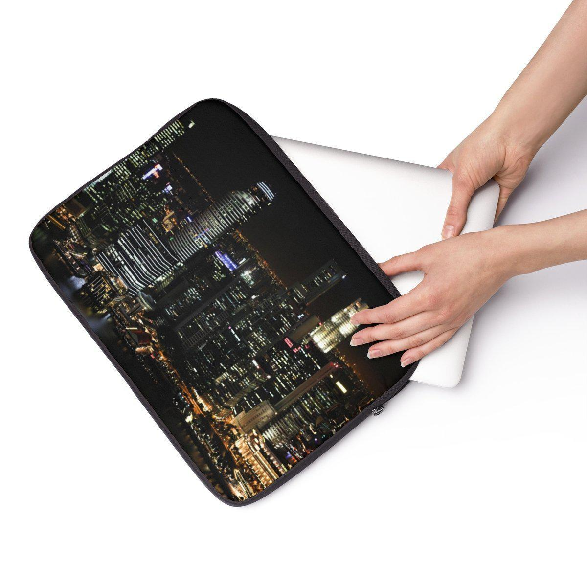"Skyscraper Laptop Sleeve-Tech - Accessories - Laptop Sleeves-Printify-13""-Très Elite"