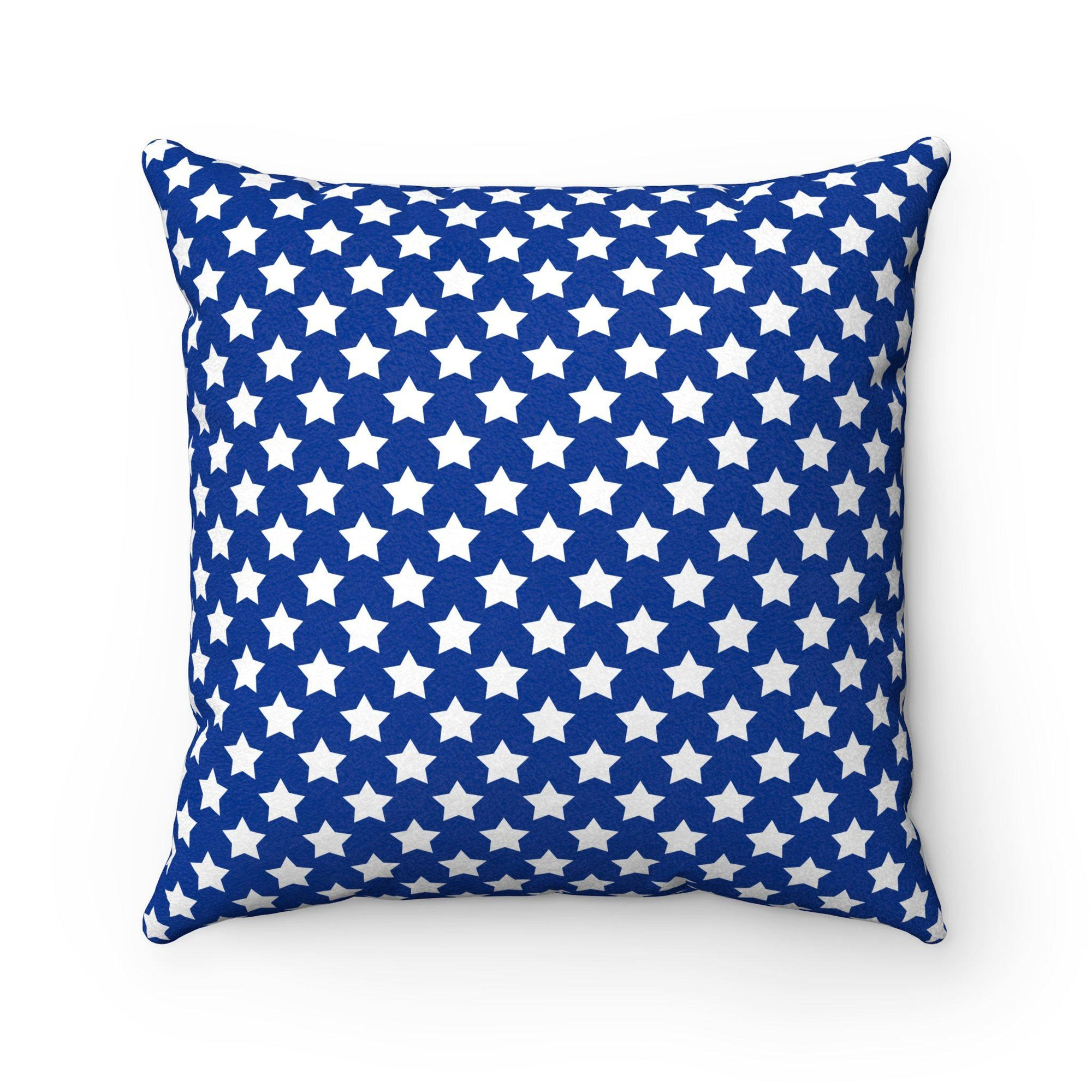 """Stars"" decorative cushion for kids-Home Decor - Decorative Accents - Pillows & Throws - Decorative Pillows-Maison d'Elite-14x14-Blue-Faux suede-Très Elite"