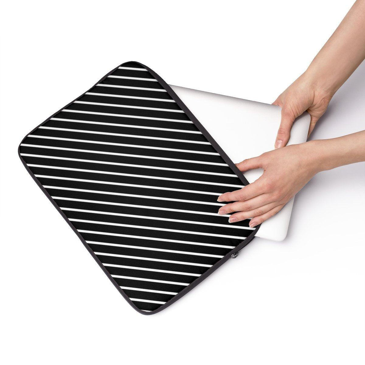 "Striped Laptop Sleeve-Tech - Accessories - Laptop Sleeves-Printify-13""-Très Elite"