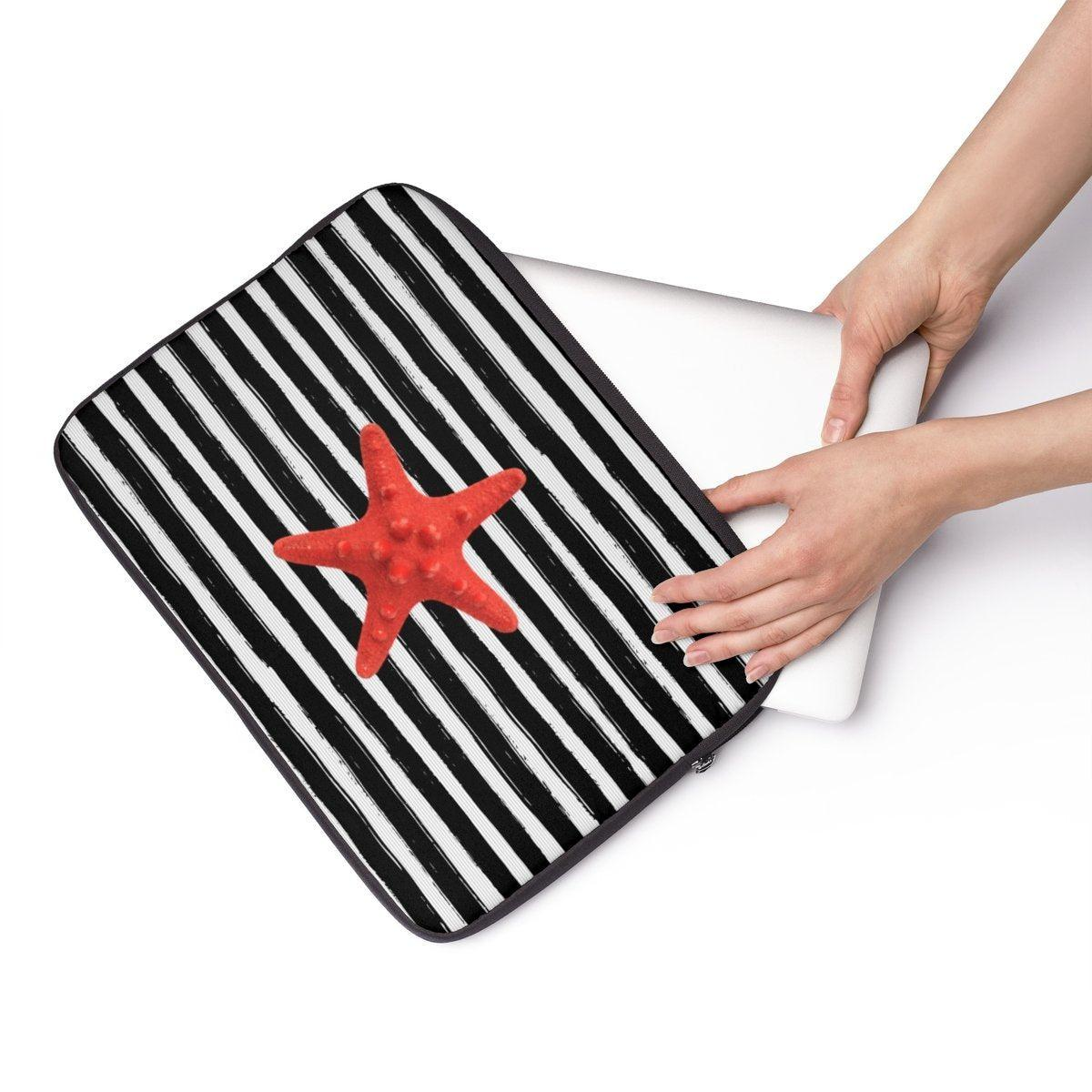 "Striped Nautical Laptop Sleeve-Tech - Accessories - Laptop Sleeves-Printify-13""-Très Elite"