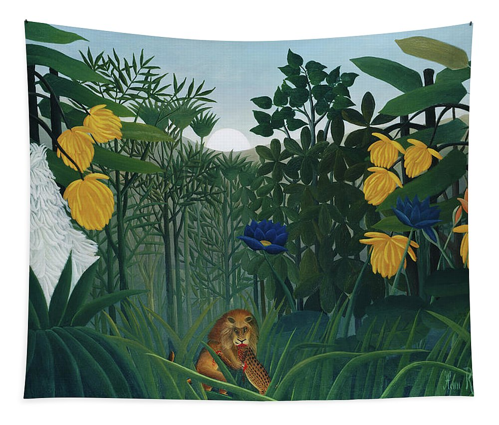 The Repast of the Lion by Henri Rousseau  - Tapestry