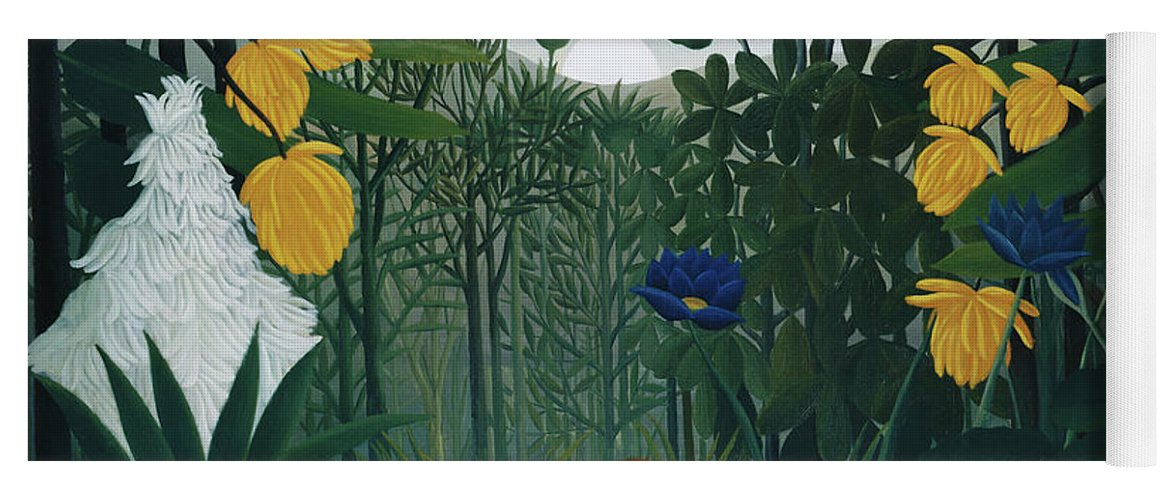 The Repast of the Lion by Henri Rousseau  - Yoga Mat