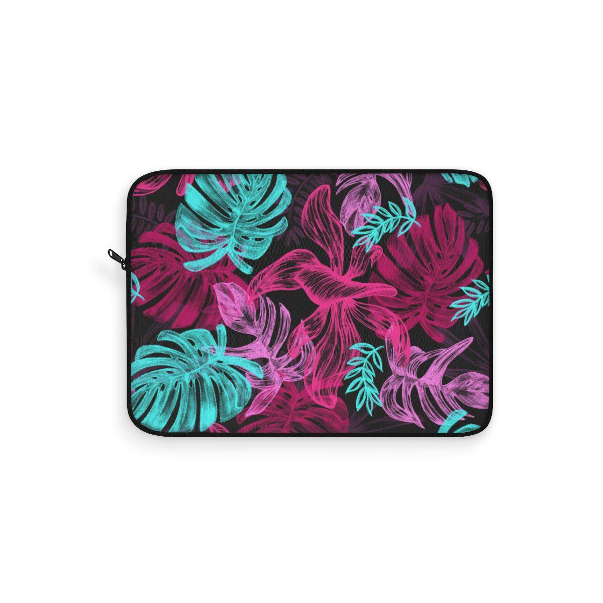 "Tropical Floral Laptop Sleeve-Laptop Sleeve-Printify-12""-Très Elite"