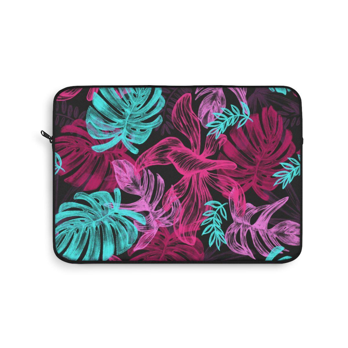 "Tropical Floral Laptop Sleeve-Laptop Sleeve-Printify-13""-Très Elite"