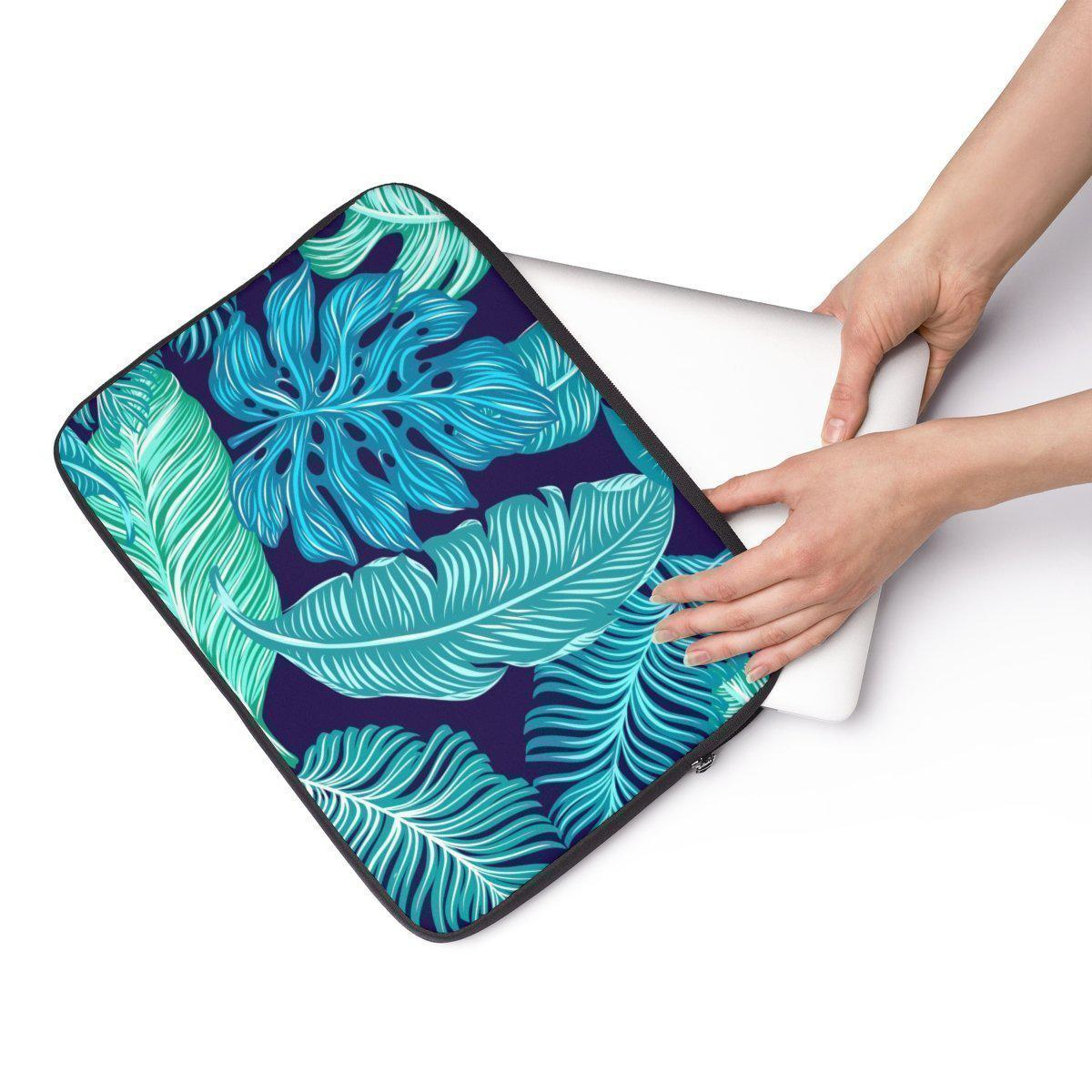"Tropical Floral Laptop Sleeve-Tech - Accessories - Laptop Sleeves-Printify-12""-Très Elite"