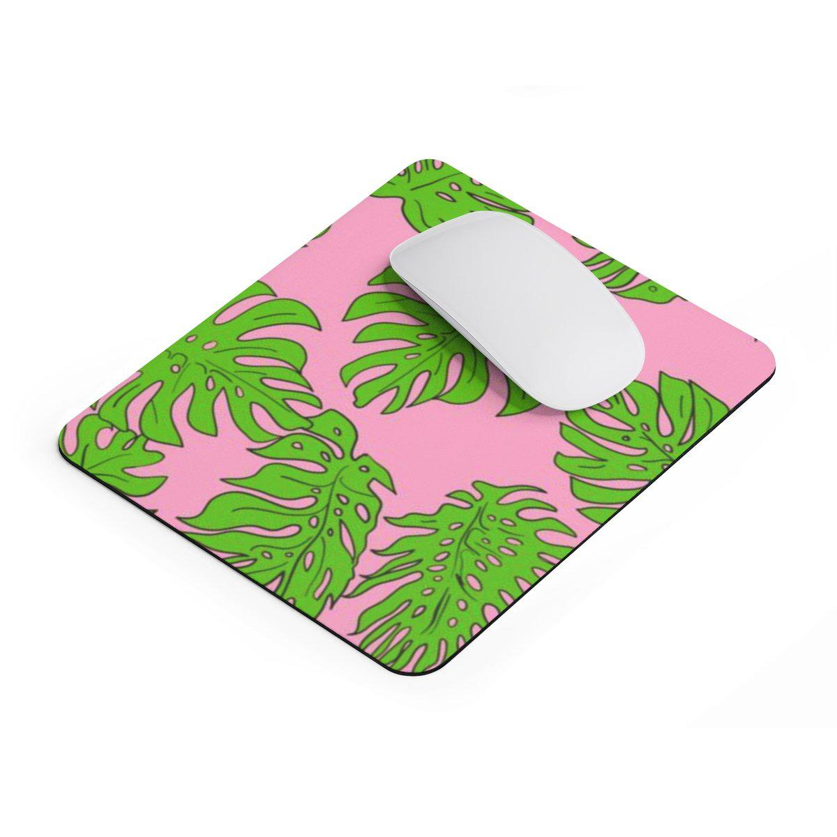 Tropical Leaves rectangular Mouse pad-Home Decor-Printify-Rectangle-Très Elite