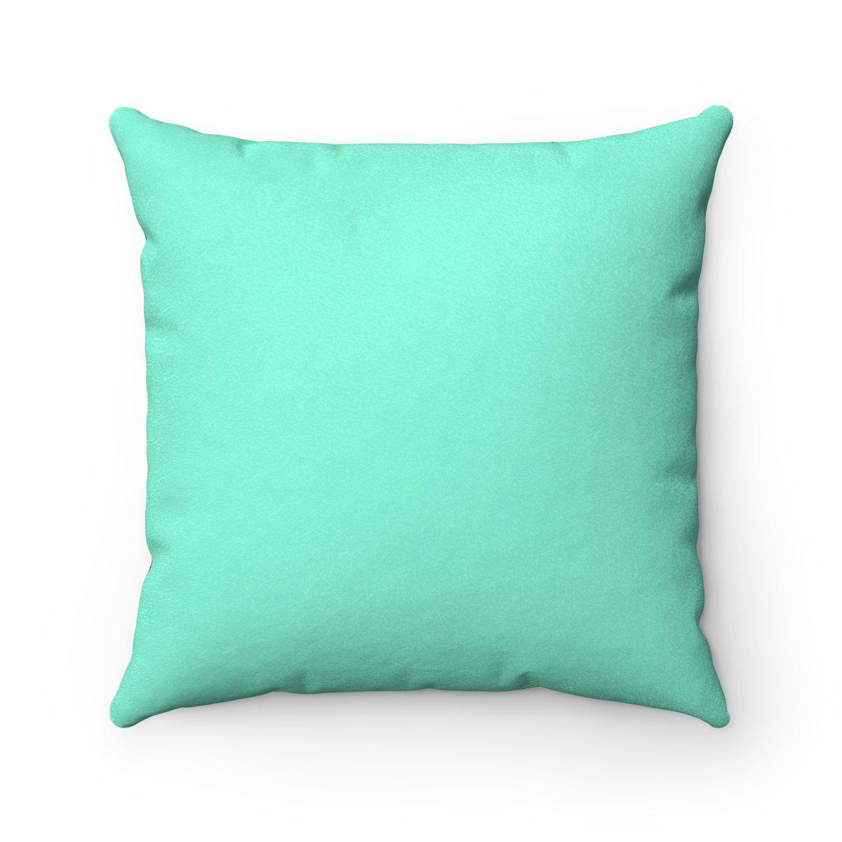 Turquoise Faux suede 2 in 1 tribal decorative pillow w/insert-Home Decor - Decorative Accents - Pillows & Throws - Decorative Pillows-Maison d'Elite-Très Elite