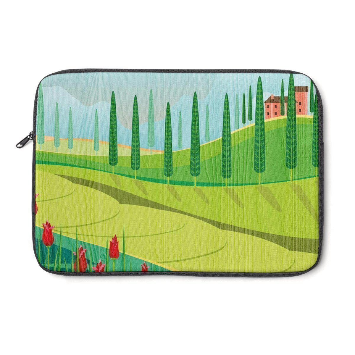 Tuscany floral | landscape Laptop Sleeve-Tech - Accessories - Laptop Sleeves-Printify-Très Elite