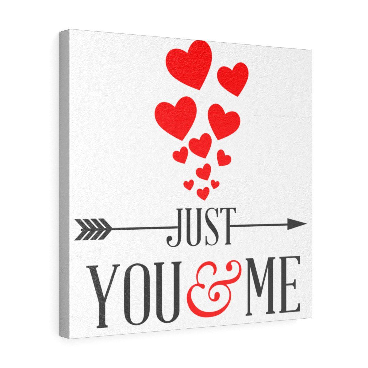 You and me love letters letter Square Leather Gallery Wraps Print-Home - Wall Arts & Decors - Prints & Posters-Maison d'Elite-16″ × 16″-Très Elite