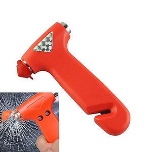 Compact Emergency Vehicle Glass Breaker & Seatbelt Cutter