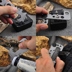 Compact 10-IN-1 Stainless Steel EDC Multi-Tool