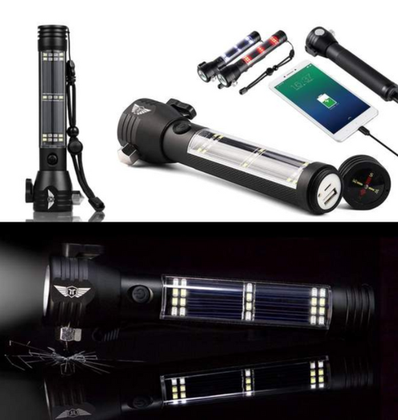 Solar Powered Multi-Function Flashlight ™