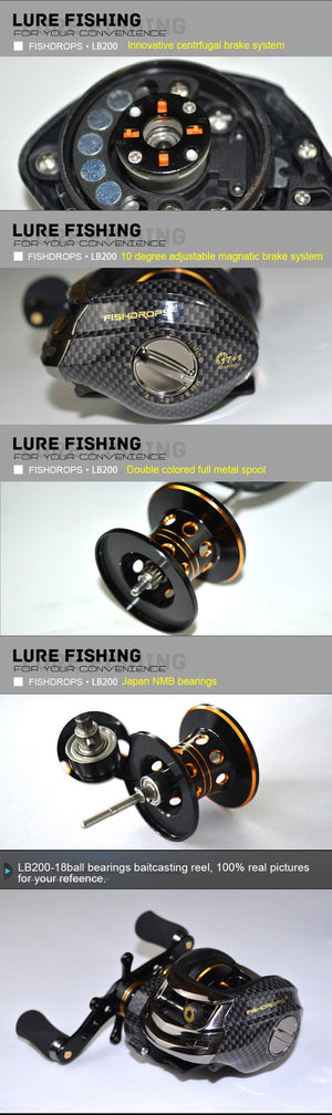 Double Brake One Way Casting Reel