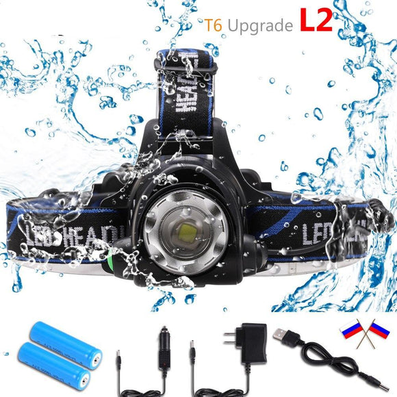3 Mode LED Waterproof Headlamp Kit