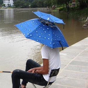 Double-deck Umbrella Hat