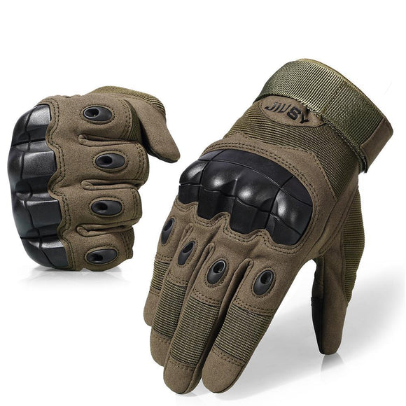 Hard Knuckle Tactical Gloves (Full Finger) Military Style