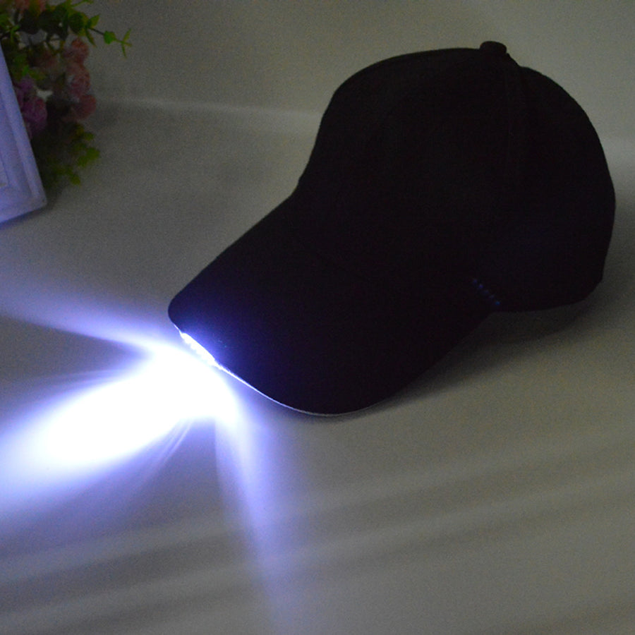 Black LED Flashlight Hunting Hats
