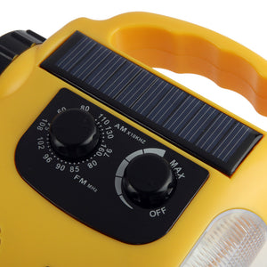 Emergency Solar & Crank Dynamo With FM Radio