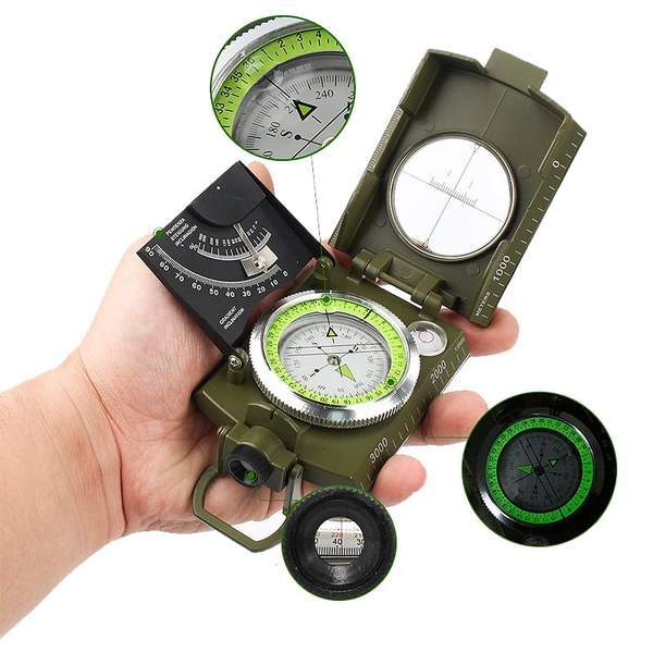 Professional Military Metal Compass with Inclinometer