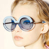 Light BLue Oversized Round Sunglasses