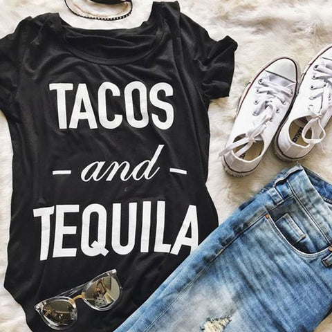 Tacos and Tequila Funky T-Shirt