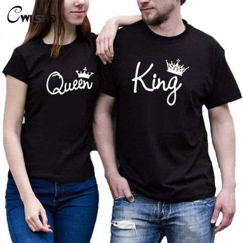 King Queen With Crown Couple Tees