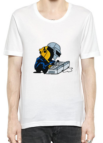 Engineer Yellow Blue Halmet Quality T-Shirt