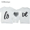 Love You With Heart Family Matching T Shirt