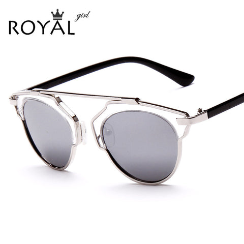 Cat Eye Metal Round Shades Sunglasses
