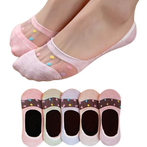 Women Candy Colors Lace Colorful Designer Socks