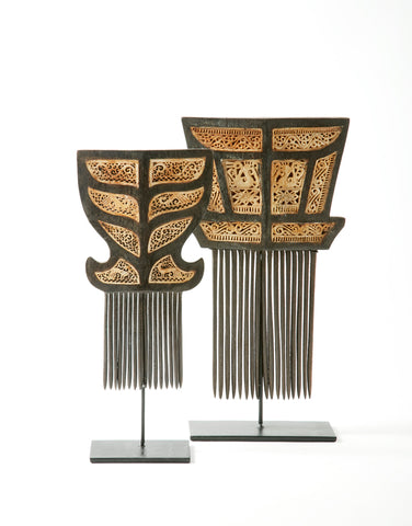 PAIR OF TIMOR COMBS