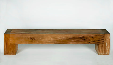 LARGE ACACIA WOOD BENCH