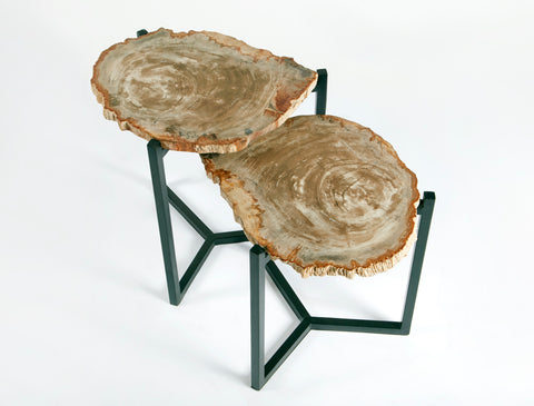 PETRIFIED WOOD STACKING TABLES