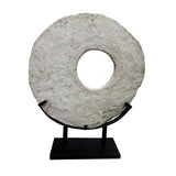 STONE WHEEL ON METAL STAND