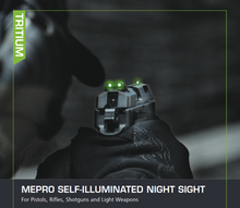 Meprolight ML18801G Tru-Dot Self Illuminated Night Sight Fits Walther P99, PPQ Full/Compact Size Green/Green