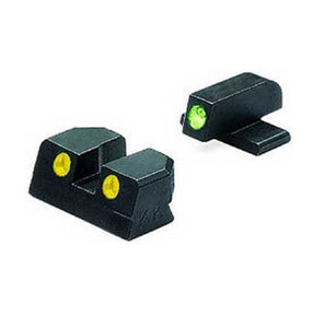 Meprolight ML10226Y Tru-Dot Self Illuminated Night Sight Fits Glock G26 And G27, Green/Yellow