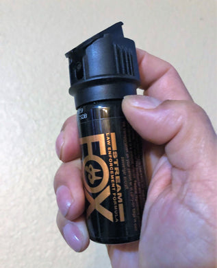 NEW FOX LABS 5.3 SQUARED Tactical HOT Police Pepper Spray Stream Flip-Top 1.5oz