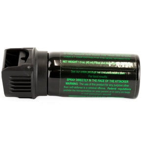 FOX LABS Mean Green Tactical Police 1.5oz Flip-Top Pepper Spray Fogger + Holster