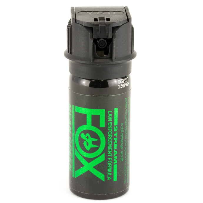 PS Fox Labs Mean Green Tactical Police 1.5oz Flip-Top Stream Pepper Spray