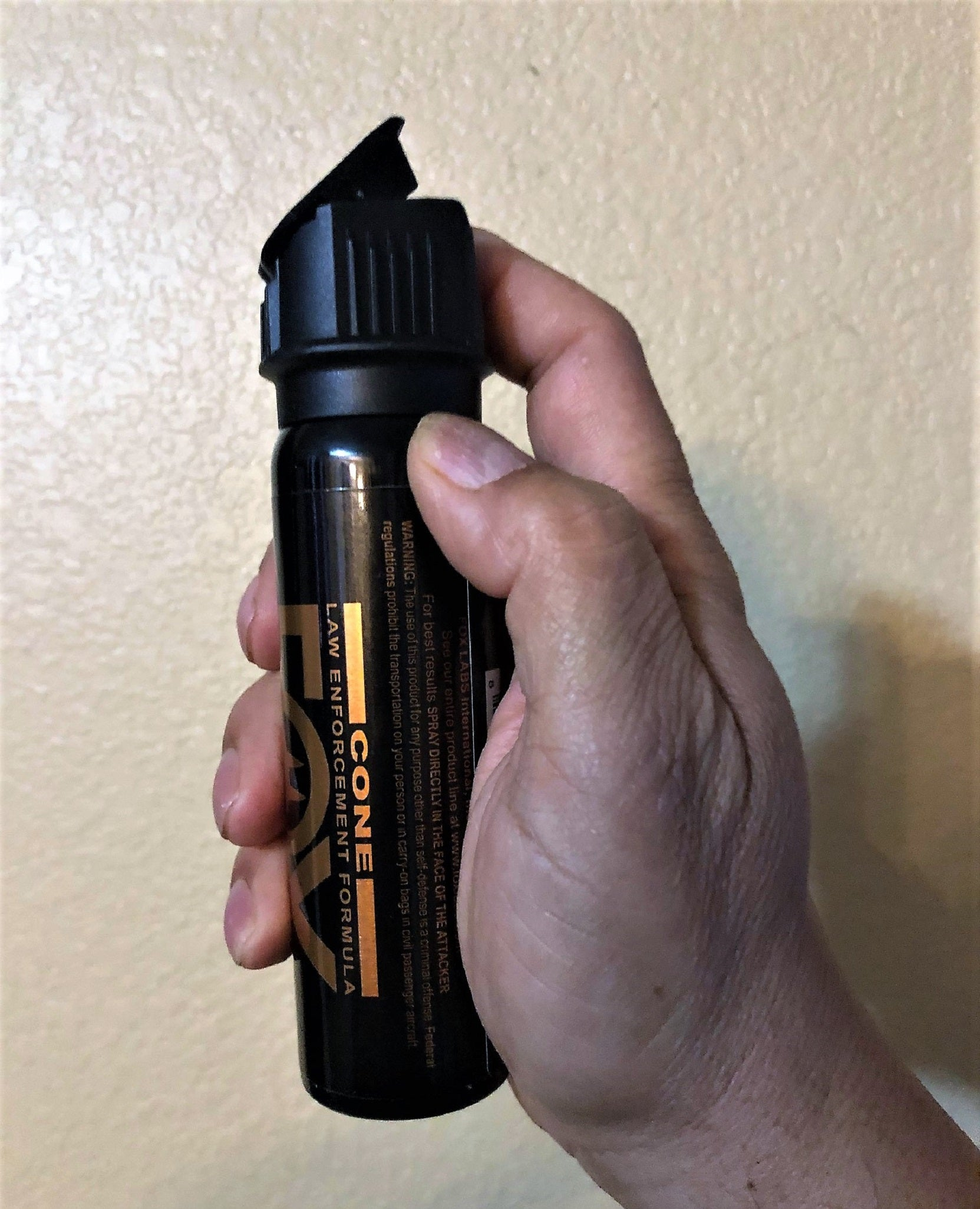 NEW FOX LABS 5.3 SQUARED Tactical HOT Police Pepper Spray FOGGER Flip-Top 3oz