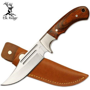 "Elk Ridge ER-052 9.25"" Fixed Knife Hunter - 440 Stainless Upswept Blade"
