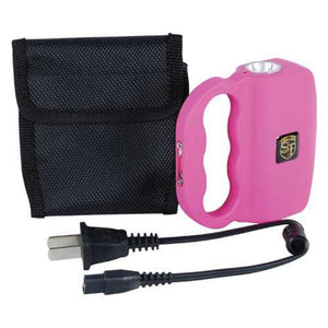 Safety Technology TALON Rechargeable 18 Million Stun Gun/LED Flashlight - PINK