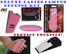 Student Campus Dorm Single Lady 6 Pieces Personal Security & Defense Deluxe Kit
