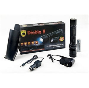 Guard Dog Diablo II - 320 Lumen Rechargeable Tactical Flashlight With 5 Million Volts Stun Gun