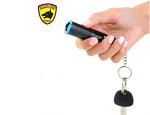 Guard Dog Electra 3 Million Volts Stun Gun Keychain 100 Lumen Flashlight - BLACK
