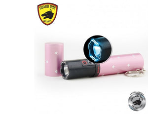 Guard Dog Electra 3 Million Volts Stun Gun Keychain 100 Lumen Flashlight - PINK
