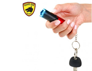 Guard Dog Electra 3 Million Volts Stun Gun Keychain 100 Lumen Flashlight - RED